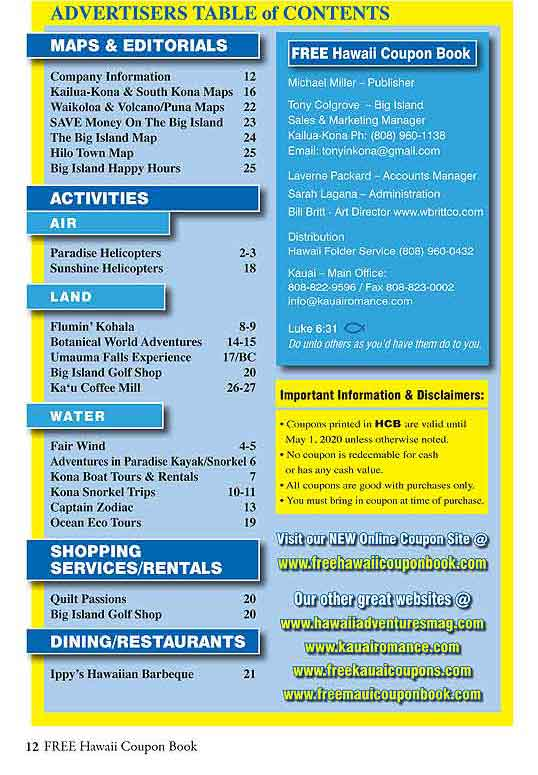 hawaii big island coupon book